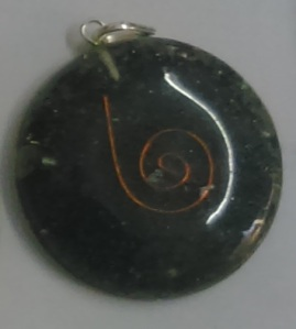Black Tourmaline Stone Orgonite Pendant - Style 4