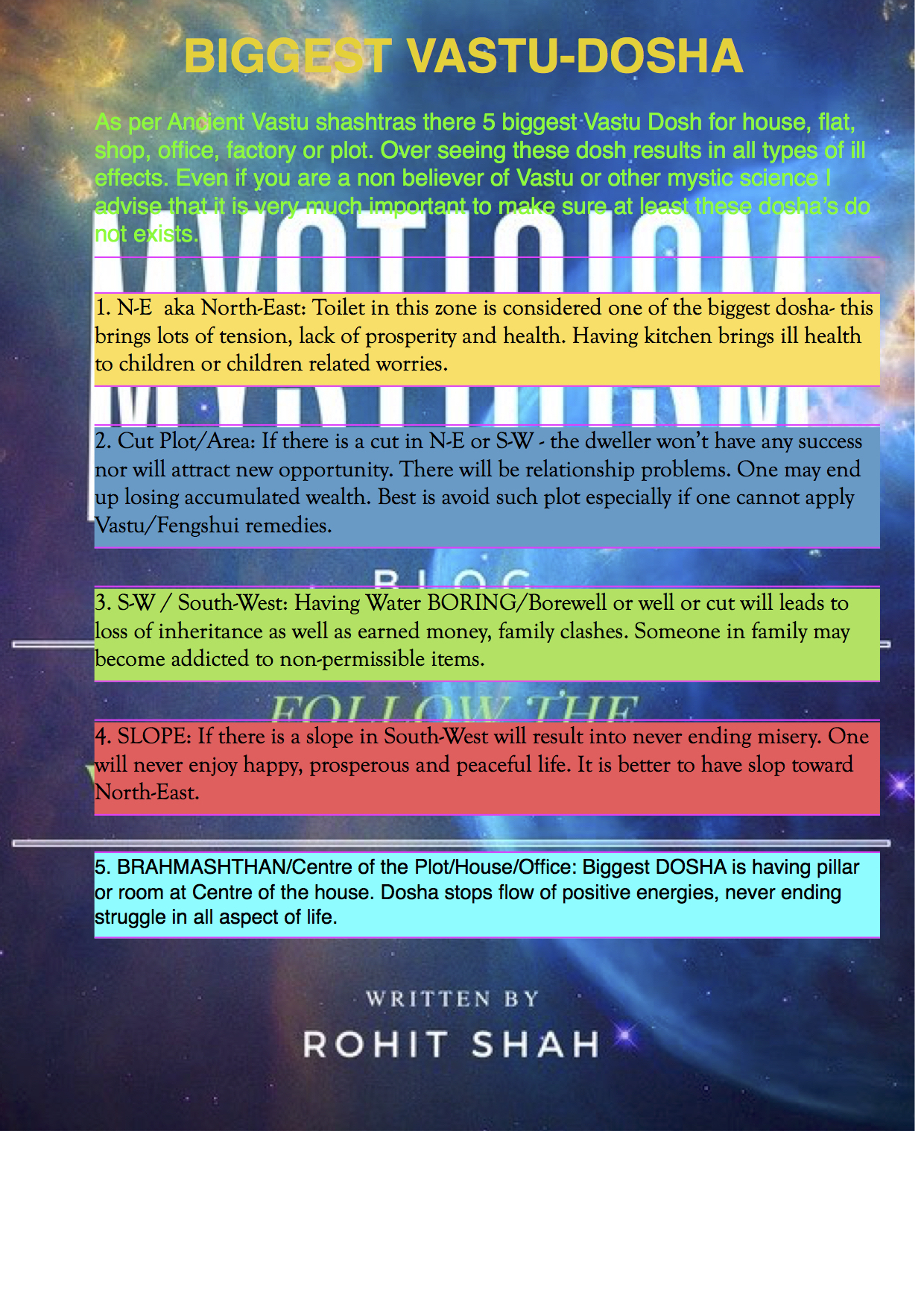 Biggest Vastu Dosh OR Faults | Mystic Solutions Blog