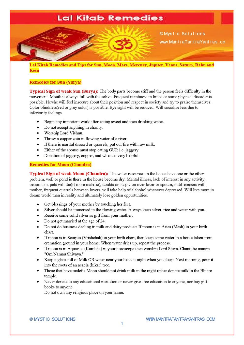 Lal kitab mystic solutions blog 1 nvjuhfo Gallery