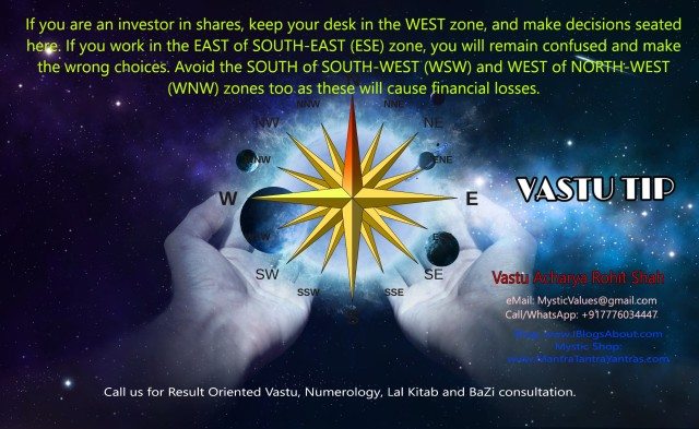 Vastu Tip for Inverstor in Shares By Mystic Solutions Rohit Shah