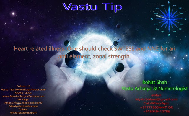 Heart Related Illness Vastu Tip