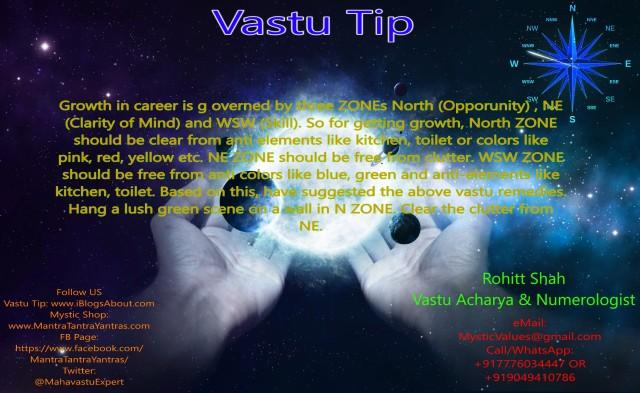 Vastu Tip Growth in Career By Mystic Solutions