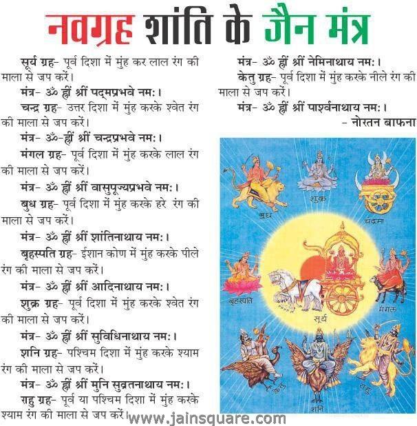 Navgraha Shanti With Jain Mantras In Hindi Mystic Solutions Blog