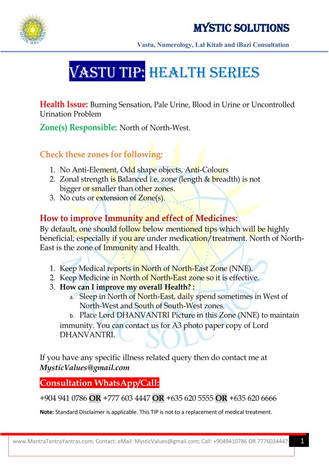 Vastu Tip Health Series Part 6 By Mystic Solutions.png