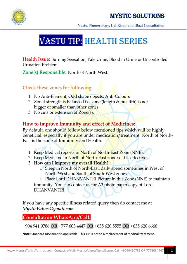 Vastu Tip Health Series Part 6 By Mystic Solutions.png