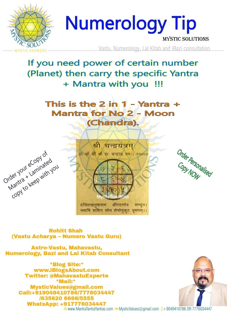 Numerology Tip - Mantra for Moon
