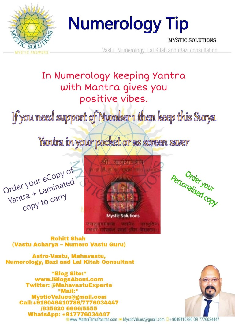 Numerology Tip - Mantra for Sun