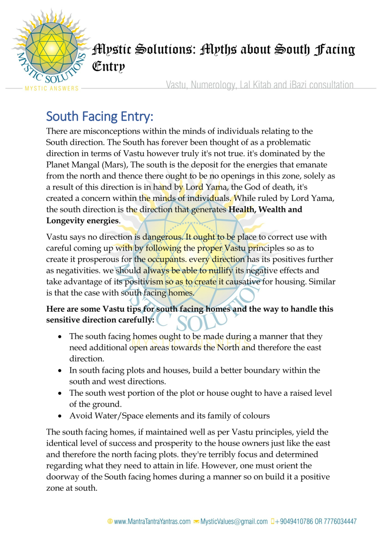 mystic solutions – myths about south facing entry_page_1